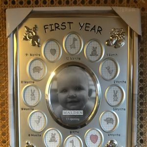 Baby first year frame NWT